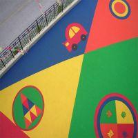 厂家直销标准塑胶彩色颗粒epdm面层幼儿园室外弹性耐磨跑道材料