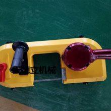 FDJ-120气动带锯天德立气动轨道钢切割带锯 电缆锚杆切割线锯