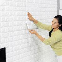 东泰3d立体砖纹pe墙贴装饰 防水自粘卧室幼儿园贴纸