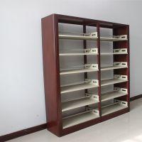 万瑞厂家直销 简约现代 钢制创意书架 图书馆 阅览室 双面 组合书架