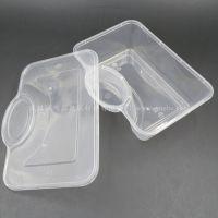 方形注塑饺子打包盒 饺子外卖盒 带调料格饺子盒 PP打包盒