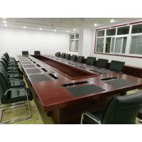 办公家具办公桌大型长条桌板式洽谈桌长桌简约现代 会议桌椅组合厂家订制