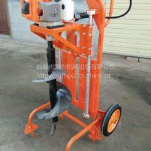 园林植树地钻挖眼机 汽油手提式钻孔挖坑机 单人操作打坑机