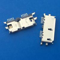 MICRO 3.0 沉板 10P 母座沉板 0.75 四脚 90度插板DIP+SMT卷边 -CY科技