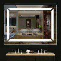 定制生产无框LED浴室镜酒店防雾镜 卫生间洗手间化妆镜高清灯镜