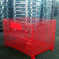 宝川厂家批发销售镀锌喷塑折叠式仓储笼可移动式蝴蝶笼超市仓库周转堆垛