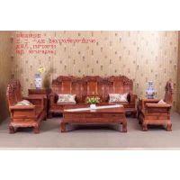 红木沙发烫蜡花梨木刺猬紫檀象头沙发10件套生漆
