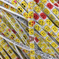 大量供应PVC数据线热转印印刷 笑脸花朵图案