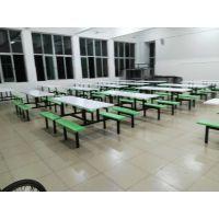 重庆学校食堂餐桌椅热销 简约风格连体餐桌 康腾厂家厂价直销餐桌