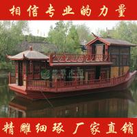 湖南出售画舫木船 画舫餐饮船 画舫船大型