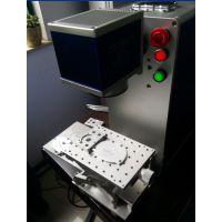 氧化铝铝打黑标尺刻字汽车部件打标五金工具二维码镭射雕刻机