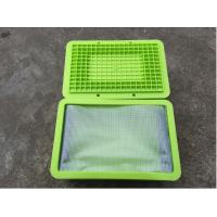 现货供应0.3厚6P环保PVC夹网布,透明网格布,拉链文件袋,防尘布