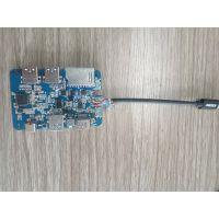 Type-C转USB3.0集线器扩展器HUB带PD供电HDMI五合一转换器