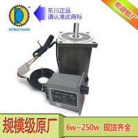 东川6w-250w调速电机圆轴 微型交流可逆调速定速光轴马达电机