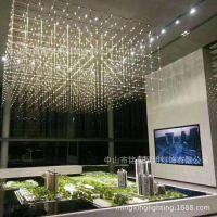 高级办公大楼新款不锈钢光立方设计立方体满天星灯包装压缩版出口