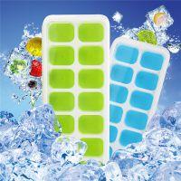 跨境硅胶冰格夏季DIY冰盒带盖冰块14格冰格盒制冰模具环保健康
