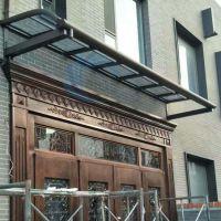 铝合金塑钢收边支架露台透明雨蓬耐力板雨棚遮阳棚 阳台窗户室外遮雨棚