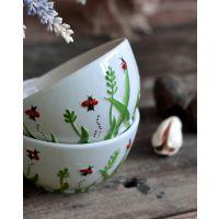 ladybug系列 个性创意浮雕陶瓷米饭碗套装 欧式瓢虫造型餐具碗