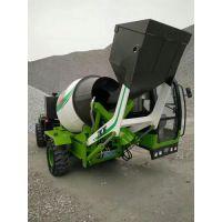 中科聚峰自动装载移动式混凝土搅拌车 自上料自卸料水泥罐车