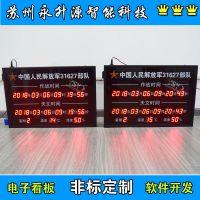 苏州永升源定制生产NTP服务器同步时钟部队北斗天文作战时钟 审讯室温湿度显示屏 电子看板