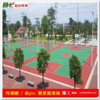 深圳篮球场地面漆施工 清远学校硅pu球场地面造价 包料包画线