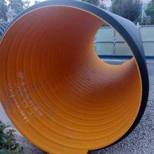 黑色螺旋增强波纹管,dn500地下排污管