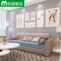 大连软包家具166-478-2客厅简约双/三人布艺沙发工厂直销大连沙发