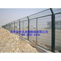 道路铁网围栏 边框围栏铁网 框架护栏铁路护栏网隔离网