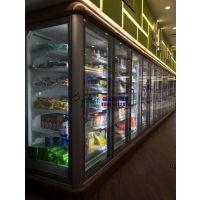 徽点玻璃门风幕柜,超市冷冻区展示柜,福州速冻西点蛋糕立风柜