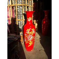 西安开业花瓶 开门红生意红红火火大摆件 中国红陶瓷大花瓶