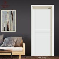 白色木门时尚简约卧室门定作 豪迈木门