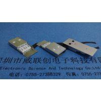 AM USB公头 B款 长体 长不锈铜板 LPC耐高温+ROHS环保认证