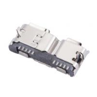 B型 MICRO USB 3.0 10P母座 卷边直边 两脚外插12.55 PCB-创粤