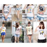 时尚韩版女装T恤夏季女士短袖便宜服装批发夜市地摊货批发跳楼货清仓