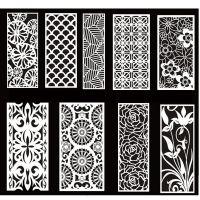 欧式PVC客厅现代镂空隔断密度雕花板屏风玄关通花板订做
