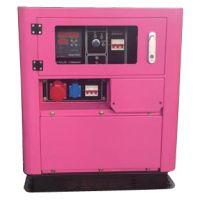 睿德R292双缸风冷柴油发电机组 12KW风冷柴油发电机组 15HP静音三相粉色