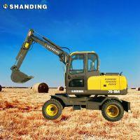 全新小型果园农用轮式挖掘机 迷你挖掘机挖土机 山鼎厂家直销