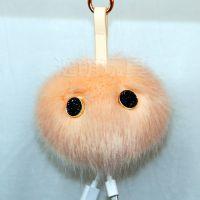 厂家专业定制毛绒公仔 狐狸绒毛球移动电源充电宝挂件 吊饰来图打样