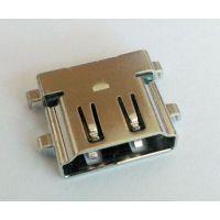 HDMI母座 反向 沉板3.37 90度DIP usb-HDMI反向母座