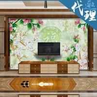 中式复古装饰 仿玉雕建梦电视背景墙