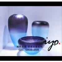 定制景观花盆 玻璃钢花钵 商场花器 小区别墅圆形创意组合花盆 陶瓷花瓶