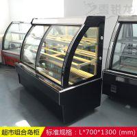 爆款三明治柜开放式风幕柜1.2米敞开式蛋糕冷藏展示柜保鲜冷藏柜