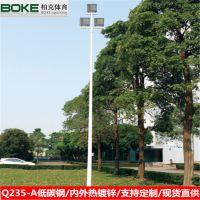 珠海篮球场照明灯柱 led球场投光灯 8米一拖二灯杆 灯杆厂家直销