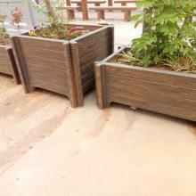 批发供应花箱 水泥花桶 仿木纹垃圾箱 质量可靠
