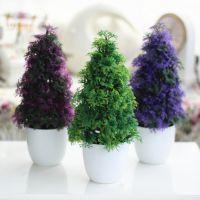 厂家直销仿真植物盆景树球绿植装饰树草球桌面装饰品 塑料绢花花卉批发定制