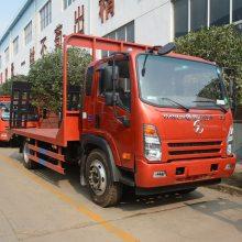 四川大运170马力蓝牌挖机拖车80挖机专用拖车1.0L