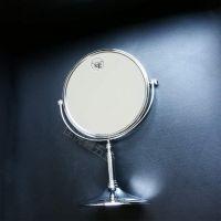 厂家直销台式可移动双面铜镜 不锈钢可翻转卧室镜子
