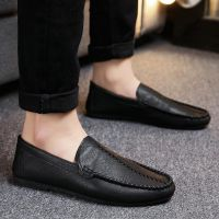 夏季一脚蹬男鞋子韩版英伦休闲皮鞋学生软底懒人鞋快手红人豆豆鞋
