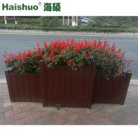 户外防腐木花箱 厂家批发城市花箱 植物花卉种植可移动室外花槽