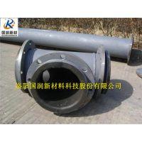 水泥厂专用耐磨管/钢衬胶管道厂家